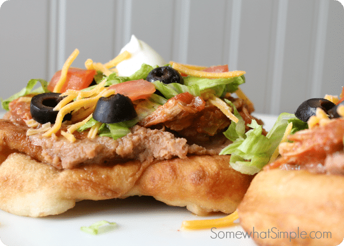 how to make easy navajo tacos with short cut Indian fry bread tip