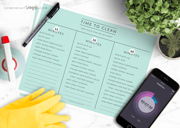 Quick House Cleaning In Minutes + Free Printables!