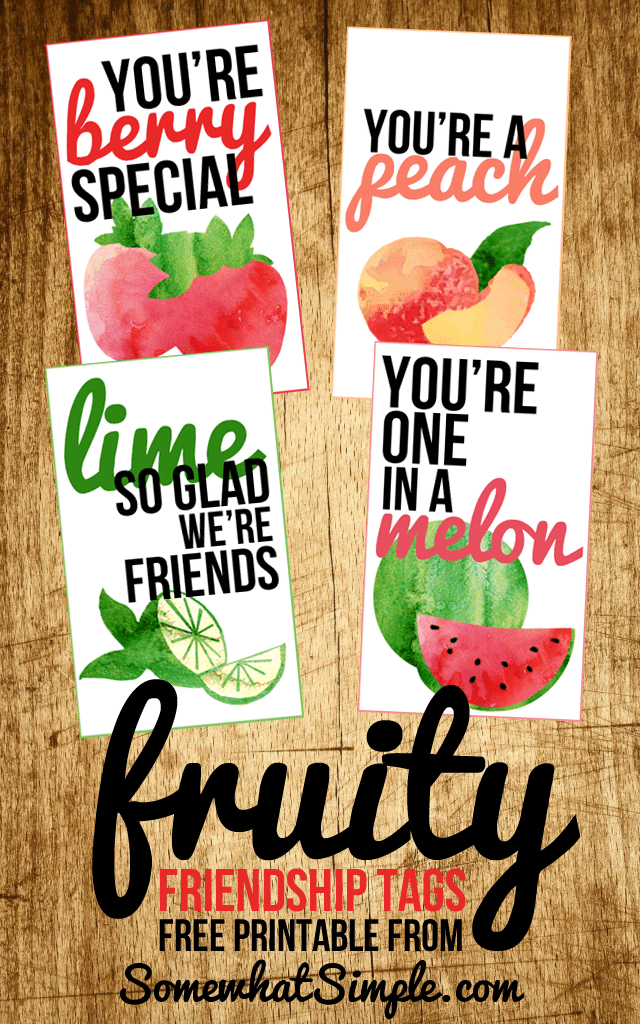 fruit friendship gift tags