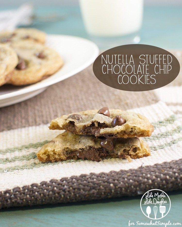nutella stuffed chocolate chip cookies1