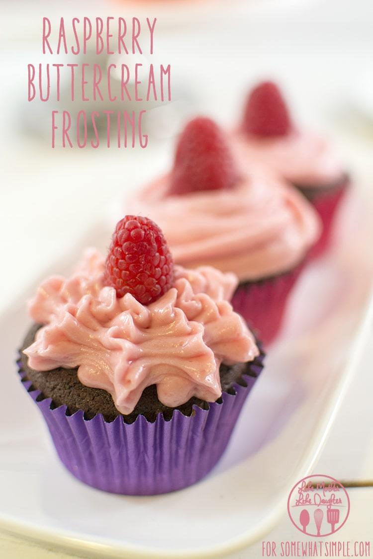 Raspberry Buttercream via @somewhatsimple