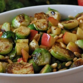 Brussel Sprouts and Apples Wide