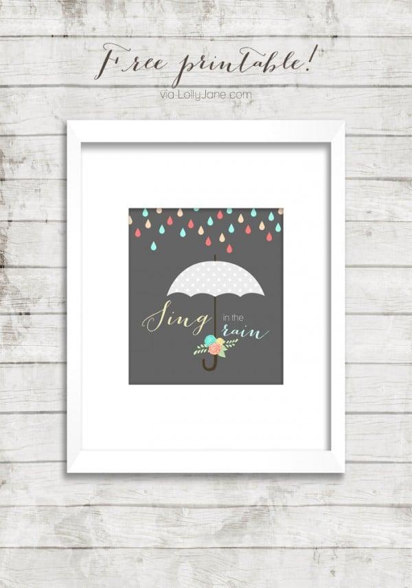 Rain-printable