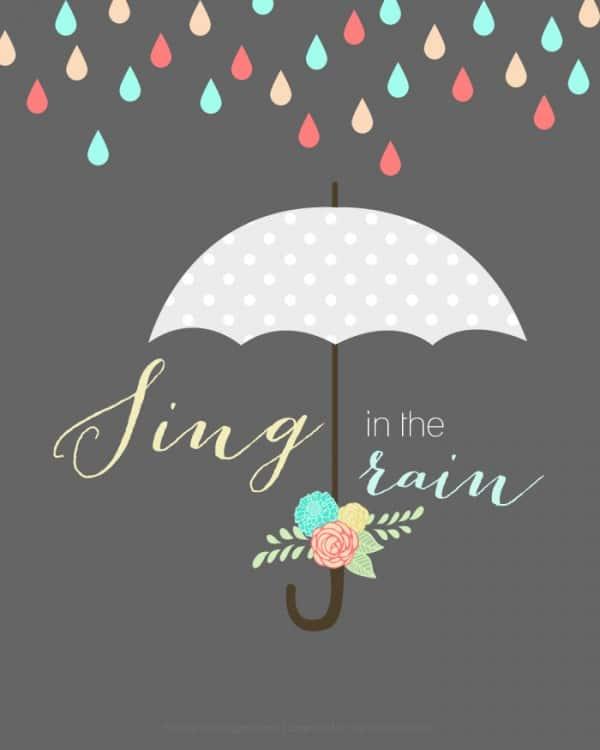 Umbrella Rain-printable