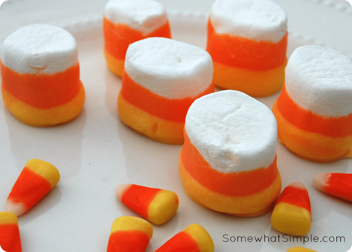 Candy Corn Marshmallows Somewhat Simple