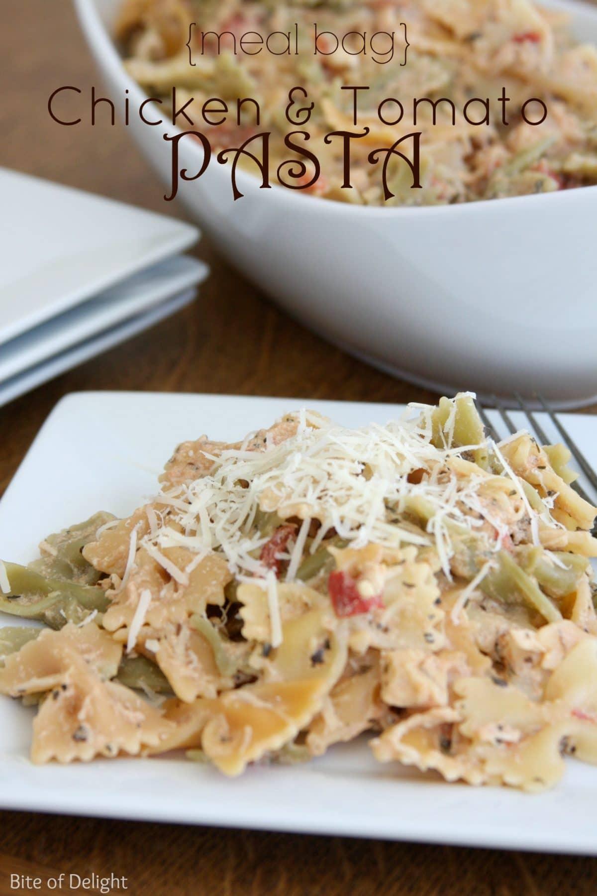 Chicken & Tomato Pasta via @somewhatsimple
