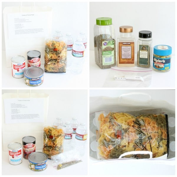 meal bag collage