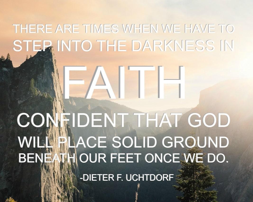 step in faith 8X10