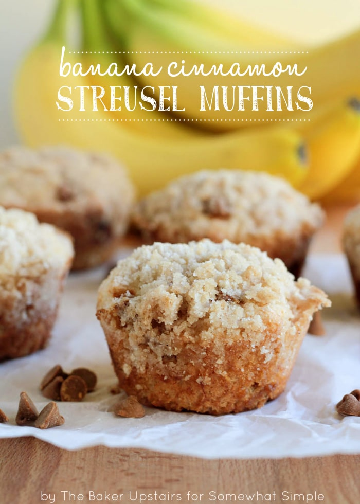 These banana cinnamon streusel muffins are full of flavor, and super delicious!