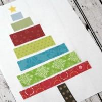 christmas tree round