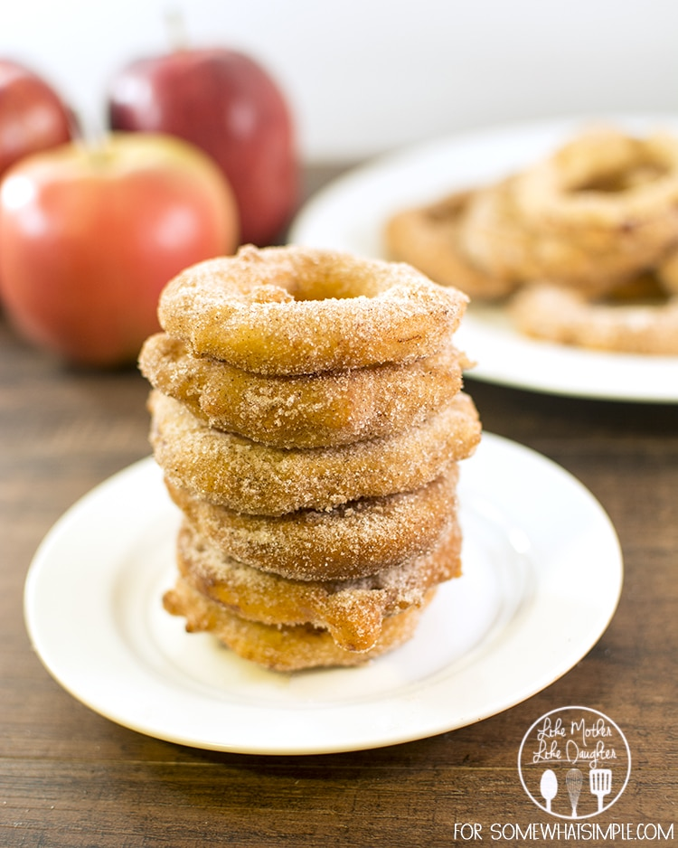 These cinnamon sugar fried apple rings are the perfect fall treat ...