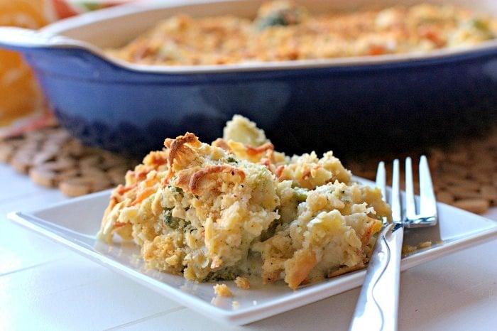 Broccoli & Cauliflower Cheddar Casserole 2