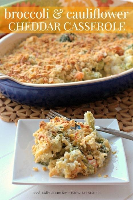 Broccoli and Cauliflower Cheddar Casserole 3