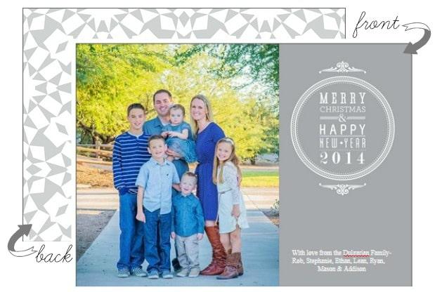 family photo card