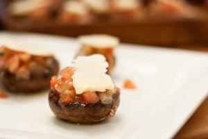 Bruschetta-Mushroom-Caps-Appetizer