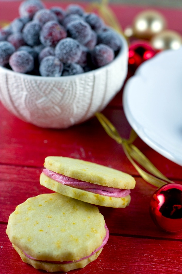 Orange Zested Shortbread with Cranberry Icing 5