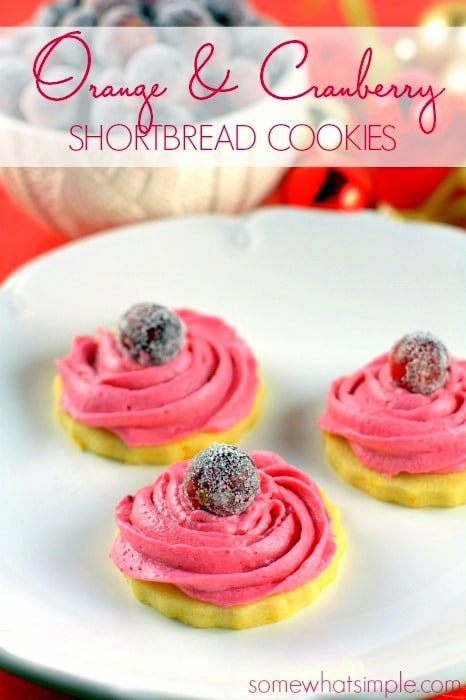 Orange Zested Shortbread with Cranberry Icing 8
