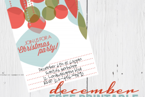 christmas invite free printable