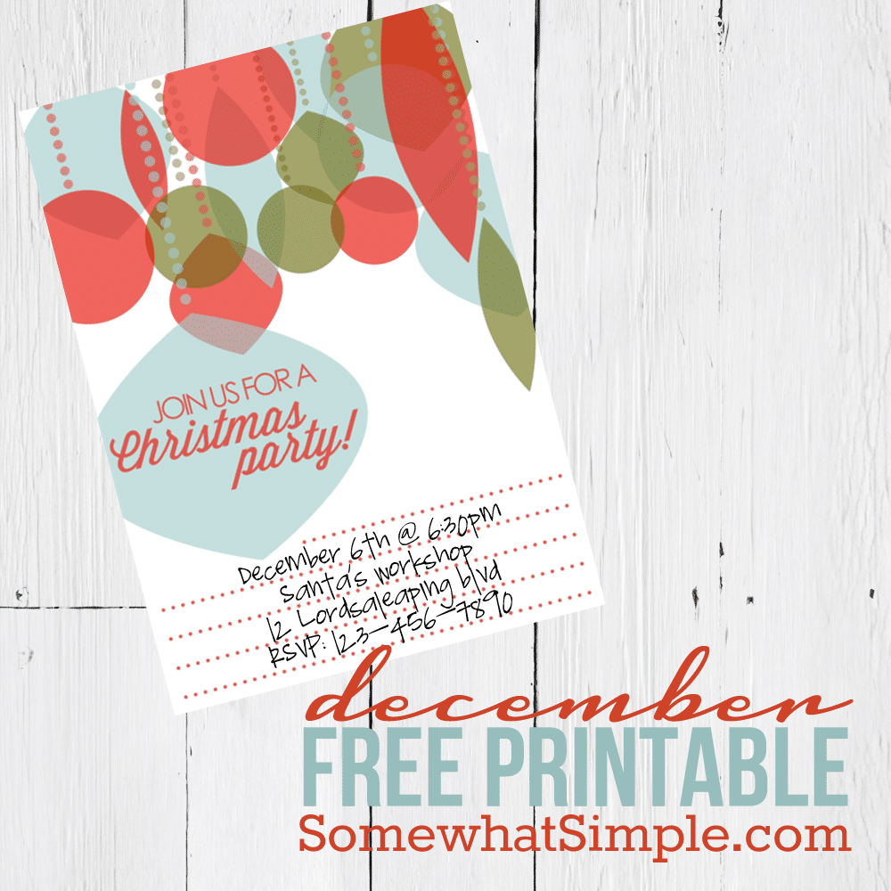 Protected: December's Free Printable