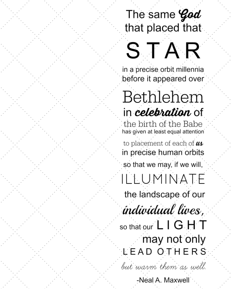 white star quote