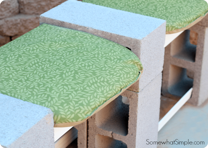 Lowes Paint App >> How to Make a Cinder Block Bench - Somewhat Simple