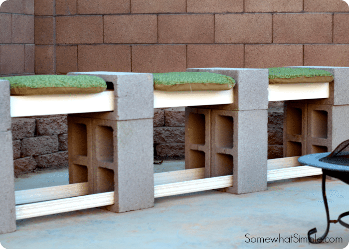 How To Make A Cinder Block Bench Easiest Way Somewhat