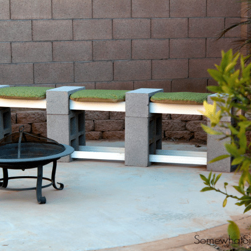 how to make a cinder block bench