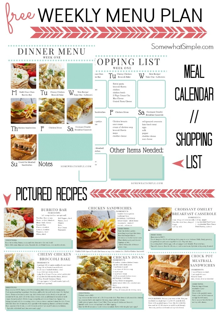 food planning template
