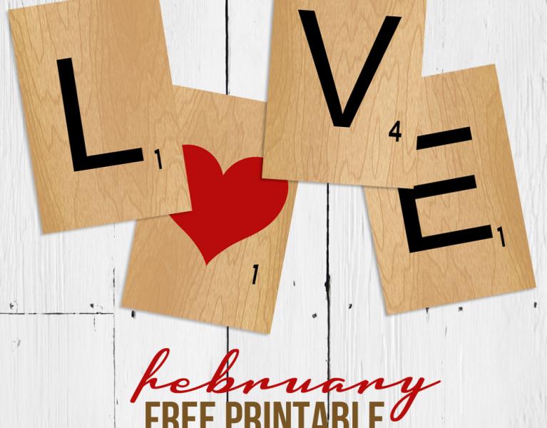 scrabble tile love free printable