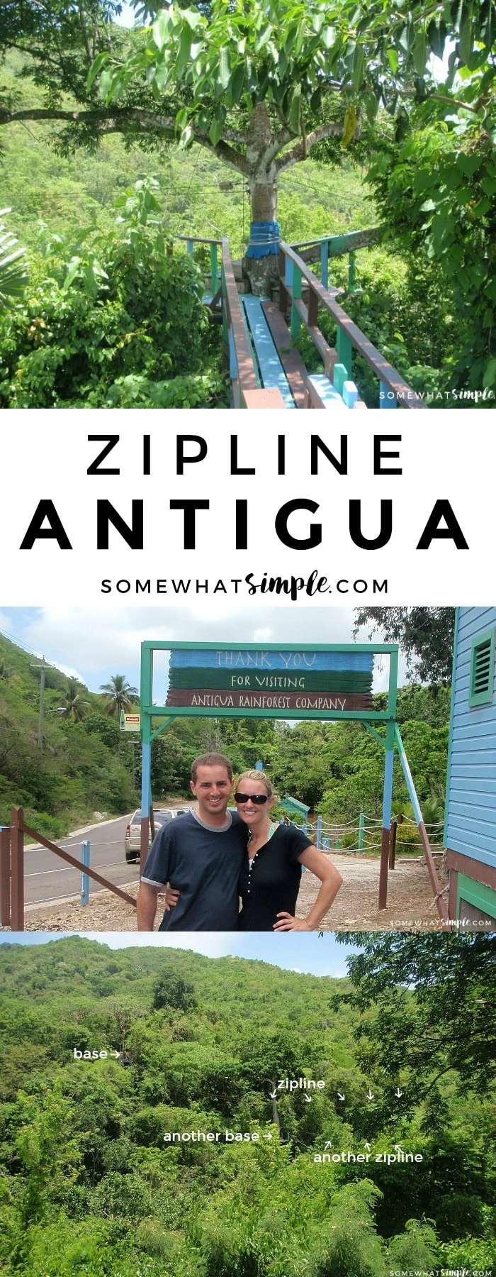 If you're looking for things to do in Antigua, ditch the beach and head to the beautiful forests for some zip lining fun!!! via @somewhatsimple