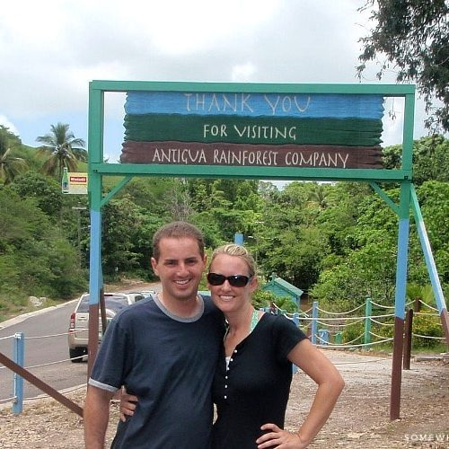 Zip Lining on Antigua Island
