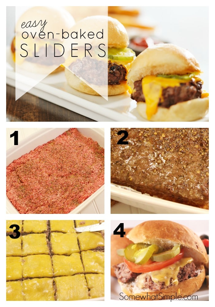 pictures of the different steps to make oven baked sliders