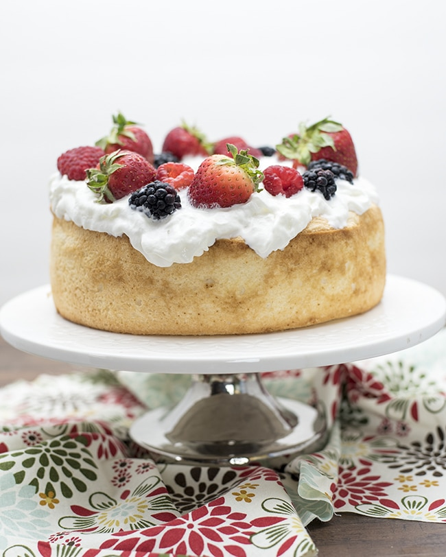 made this delicious and easy angel food cake birthday cake using ...