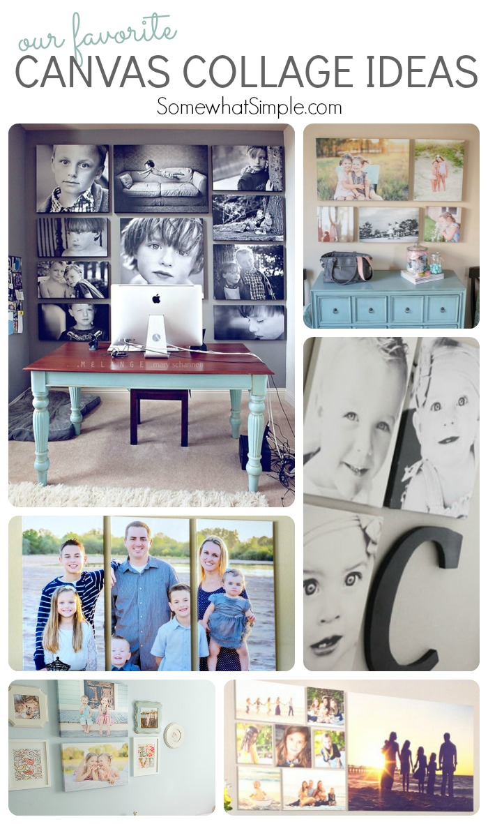top 10 canvas collage ideas - somewhat simple