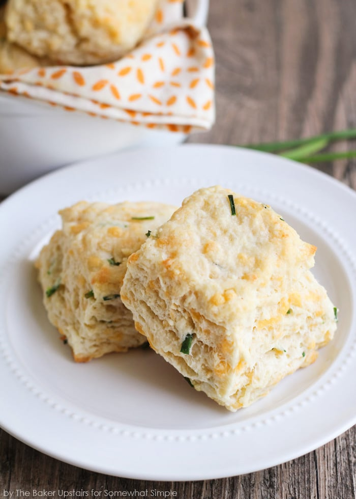 Cheddar and Chive Biscuits - Somewhat Simple