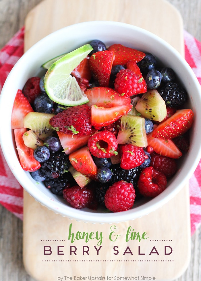 Honey and Lime Berry Salad