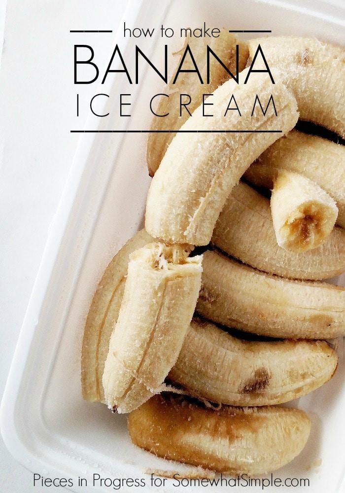 How to make Banana Ice Cream that is both vegan and gluten free!