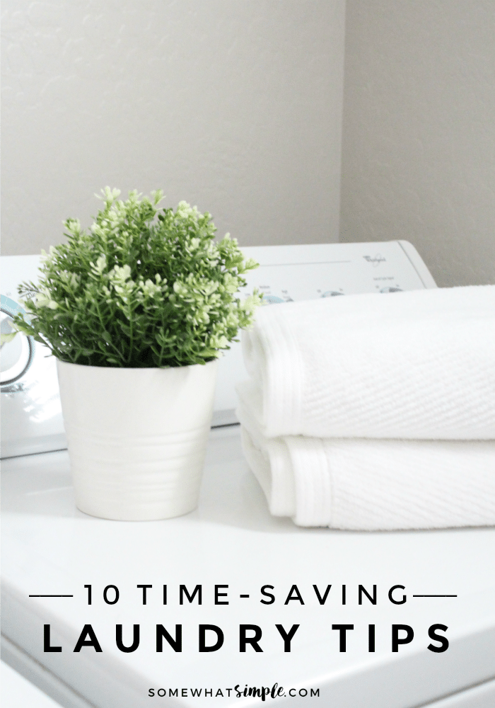 Here are 10 of favorite laundry hacks and savvy shortcuts to scrubbing stains, eliminating odors and cleaning clothes!  These easy tips will not only save you precious time but also your sanity! via @somewhatsimple