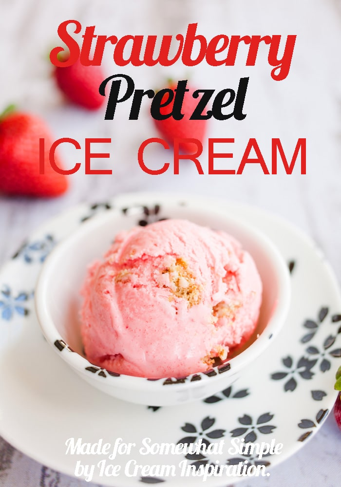 Enjoy the delicious sweet and salta combo with the amazing strawberry pretzel ice cream recipe. via @somewhatsimple