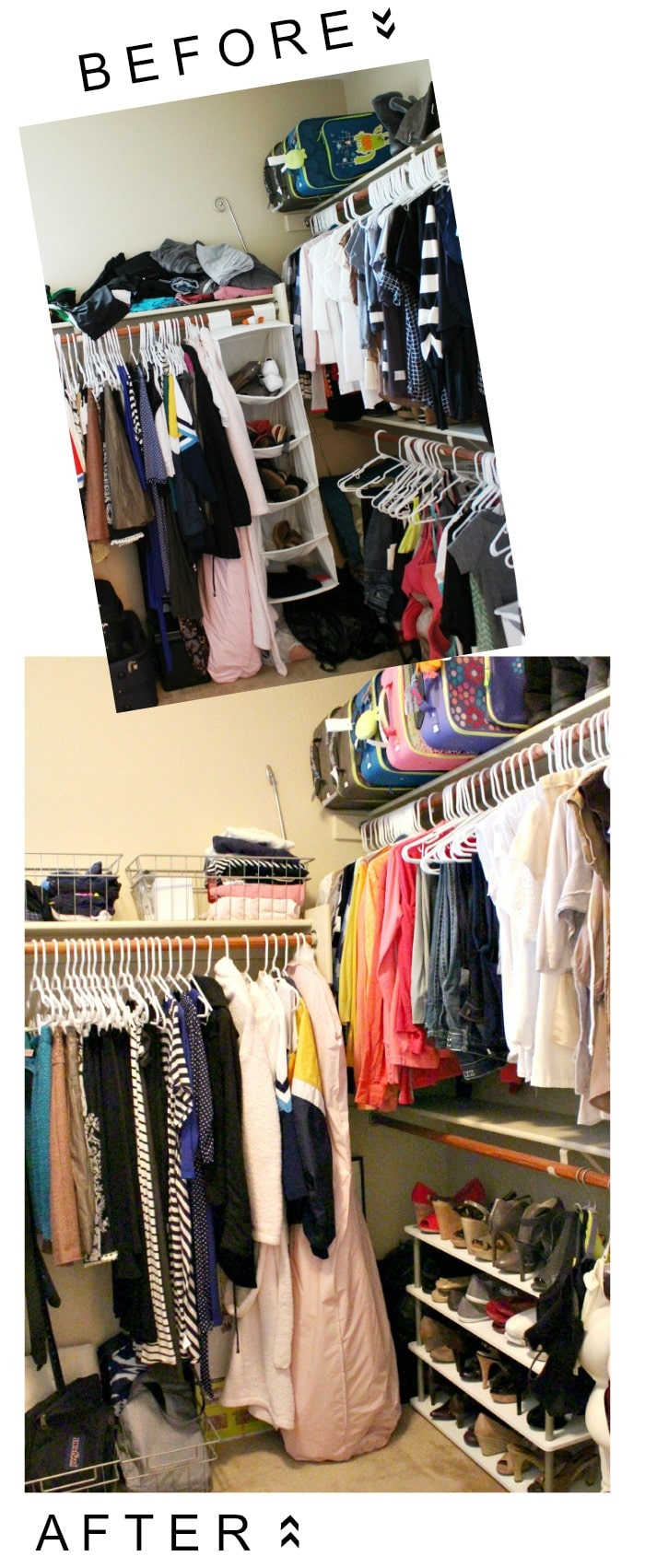 closet before and after