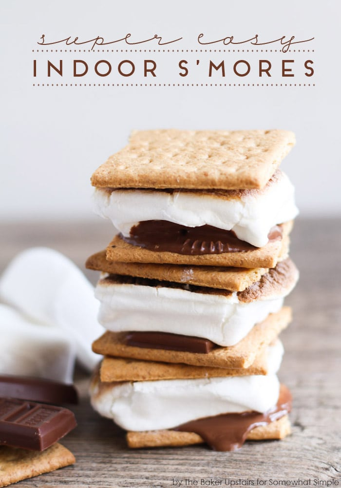 Easy Indoor S'mores - Somewhat Simple