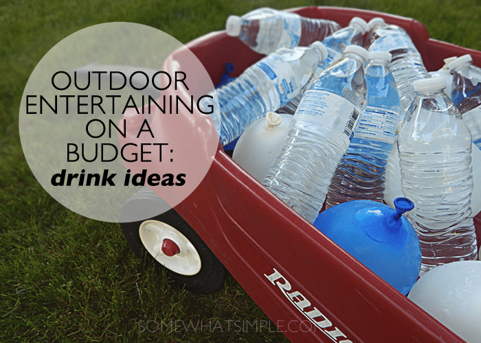 outdoor entertaining - drinks