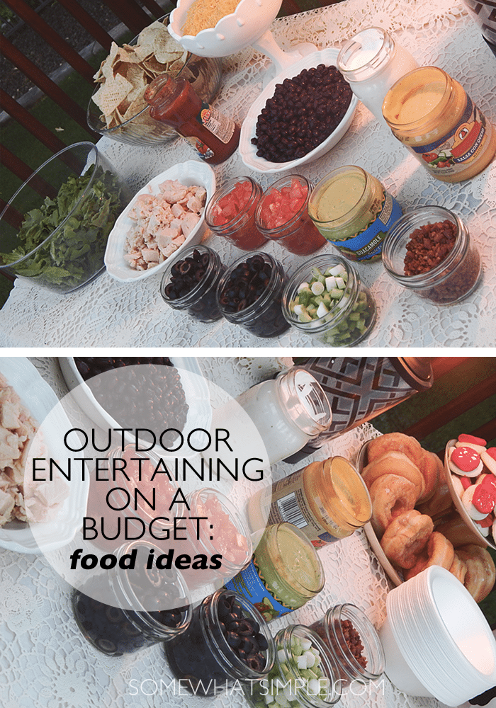 outdoor entertaining - food