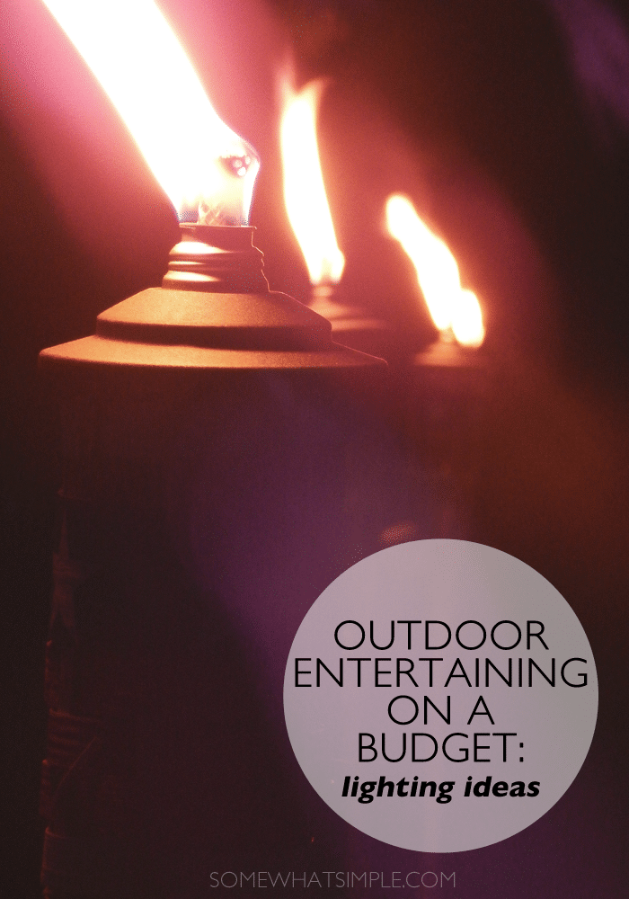 outdoor entertaining - lighting