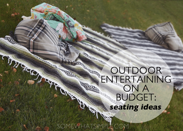 outdoor entertaining - seats