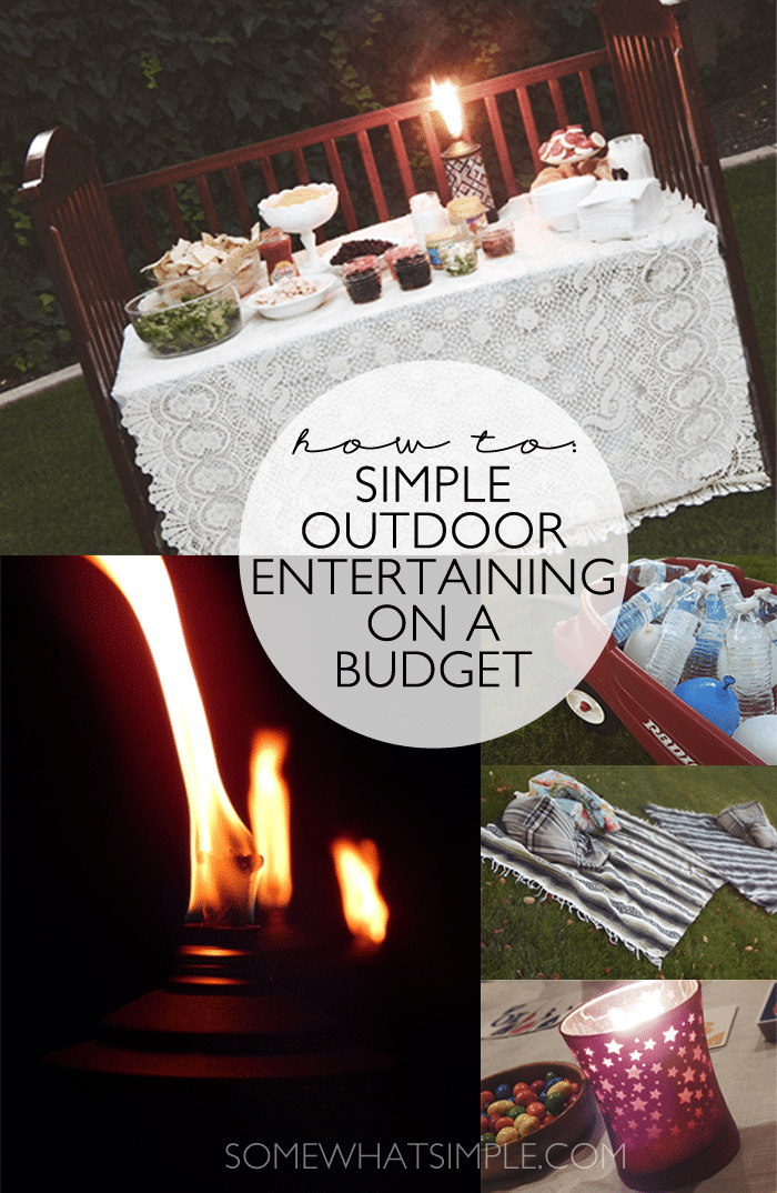 simple outdoor entertaining on a budget