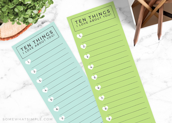 Free Printable Fathers Day Cards: 10 Things I Love About You