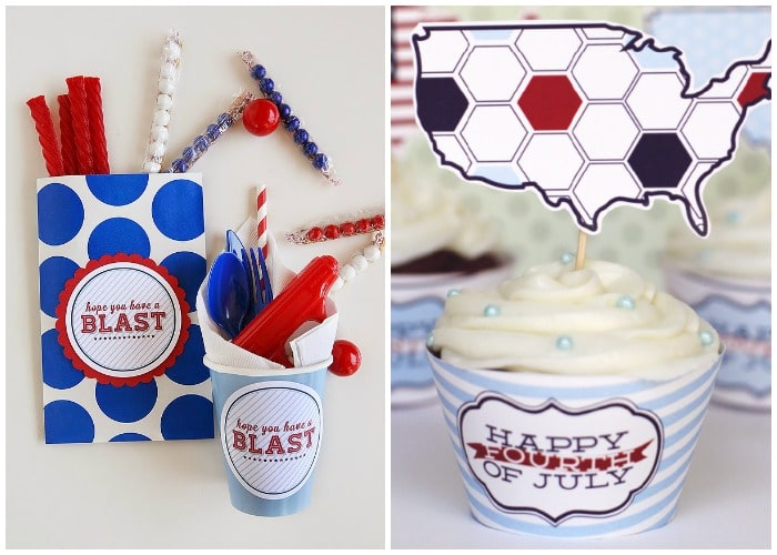 Party printables for 4th of July