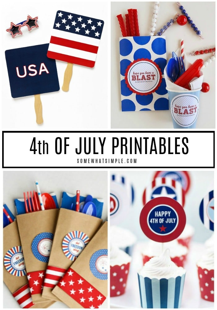 Get ready to celebrate Independence Day with 15 favorite 4th of July Printables!  #4thofjuly #printables #free #party via @somewhatsimple