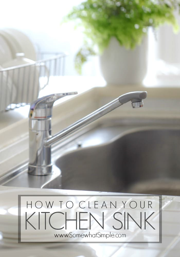How to clean your kitchen sink the easy way for How to clean your bathroom drain
